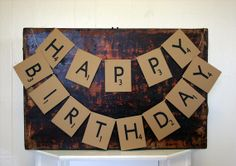 scrabble themed birthday or great banner for game-themed birthday!