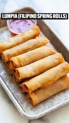 Fried Spring Rolls, Chicken Spring Rolls, Thai Spring Rolls, Veggie Spring Rolls, Filipino Recipes, Asian Recipes, Ethnic Recipes, Filipino Food, Lumpia Recipe Filipino