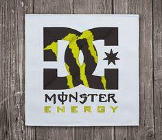 DC Monster Energy Logo- Embroidery Design Instant Download #EmbroideryDownloadCom