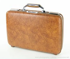 "Vintage AMERICAN TOURISTER ESCORT 19"" Brown Hard Shell Retro Briefcase UNUSED #AMERICANTOURISTER #BriefcaseAttache"