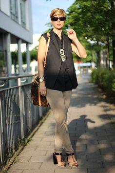 black and beige - silk sweat pants Stella&Dot, DMYD, American Vintage, Schumacher, Louis Vuitton