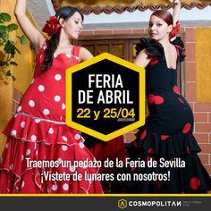 La #FeriaDeAbril llega a Cosmopolitan. Ven y diviérte haciendo deporte :)   Miércoles 22 ►11:35h Sábado 25 ►12:05h