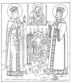 printable orthodox icon coloring pages   Theophany icon coloring page   Sunday School : Orthodox ...