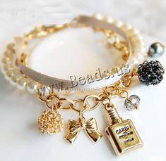 Pulsera de perlas de vidrio http://www.beads.us/es/producto/Pulsera-de-perlas-de-vidrio_p129240.html