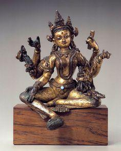 Vasudhara - Goddess of Abundance  Nepal; ca. 13th century - Metal  Rubin Museum of Art