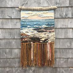 High Head X hand woven tapestry. Weaving Tools, Weaving Projects, Weaving Art, Loom Weaving, Tapestry Weaving, Hand Weaving, Weaving Textiles, Weaving Patterns, Weaving Wall Hanging