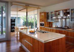 Dinning room set up    modern kitchen by Kindred Construction Ltd.