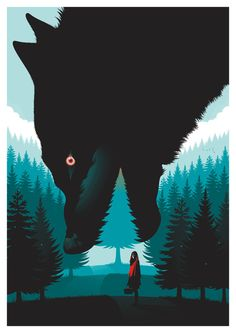 INTRODUCING Guillaume Morellec and his stunning Little Red Riding Hood print