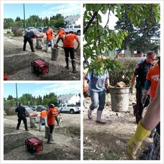 """""""Props to the for getting dirty & helping clean up Erlton St. Emergency Responder, Clean Up, Calgary, Abs, Twitter, Life, Crunches, Abdominal Muscles, Killer Abs"""