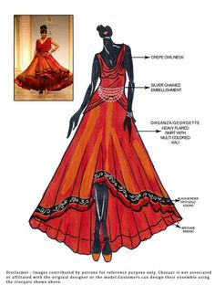 DIY Smoldering Orange Lehenga Choli