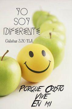 Yo soy diferente porque Cristo vive en mi. Ga 2.20