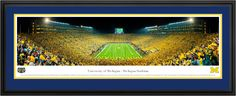 University of Michigan Wolverines - Big House Night game Vs. Notre Dame Panoramic Picture $199.95