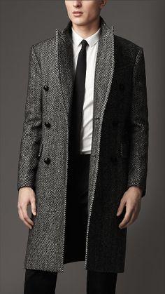 Herringbone Lambswool Coat | Burberry
