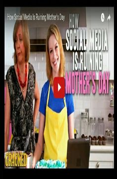 Mother's Day is here! And countless young people will go online to express their love for mom. And yes there is definitely nothing wrong in doing that. But this doesn't sit well with Cracked. The comedy channel explains how social media and the Internet have ruined Mother's Day in this video.