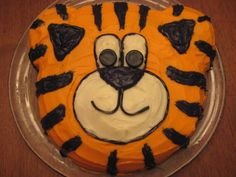 Tiger Cake for Matthew's birthday Tiger Cake, 3rd Birthday, Parties, Cakes, Desserts, Kids, Food, 3 Year Olds, Fiestas
