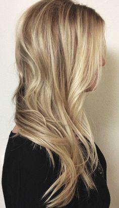 Medium cool toned blonde