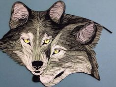 Quilled wolves - Unknown Artist