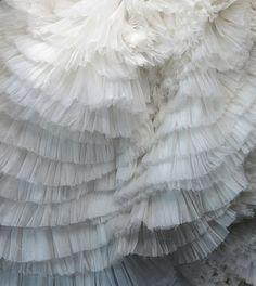 white ruffles, love ruffles.ZsaZsa Bellagio