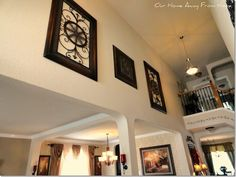 decorating high walls | ideas for walls with cathedral ceilings