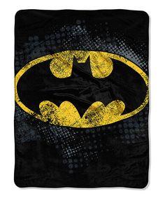Look at this #zulilyfind! Batman Dark Knight Shield Throw by Batman #zulilyfinds
