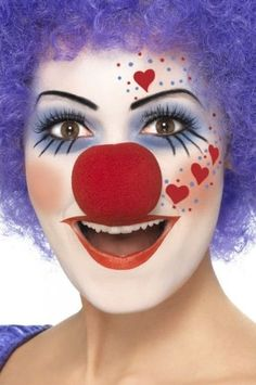 Halloween makeup. Clown