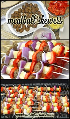 Meatball Kabobs- So easy to throw together and very delicious!