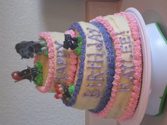 """Lopsided Crooked"" Brave Cake for friend's daughter"