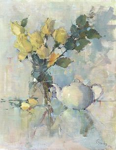 Morning Tea by Nancy Franke Oil ~ 30 x 24