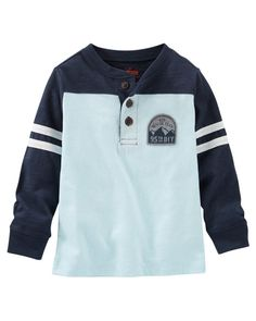Kid Boy Colorblock Henley from OshKosh B'gosh. Shop clothing & accessories from a trusted name in kids, toddlers, and baby clothes.
