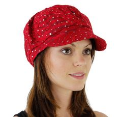 Glitter Sequin Trim Newsboy Style Relaxed Fit Cap in 19 Colors