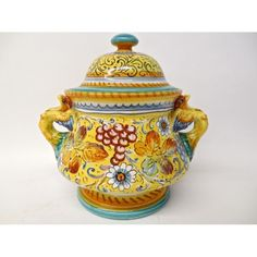 Tuscan Contraffondo Rounded Footed Tureen with phoenix