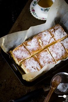 This Polish version of a vanilla slice is made with sheets of choux pastry filled with a creamy, light layer of custard cream.