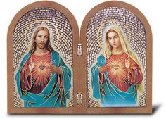W x H, Full Color) This is a beautiful standing prayer plaque of The Sacred Hearts. This plaque is imported from Italy and is gold embossed. This plaque comes gift boxed. Overall size x gift boxed Framed Art, Framed Prints, Jesus Art, Heart Of Jesus, Sacred Heart, Christian Art, Picture Frames, Catholic, Prayers