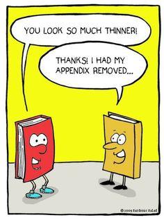 books don't have appendix