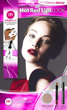 The latest photoshoot of Jennifer Lawrence for  BAZAAR UK is stunning. See what Makigiaz Com suggests for you to recreate this look.  English Article http://makigiaz.com/blog/celebrity-look-lawrence-red-hot-lips-en  Greek Article http://makigiaz.com/blog/celebrity-look-lawrence-red-hot-lips