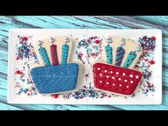Birthday Cake with Candles Decorated Cookie (Tutorial) — CookieCrazie
