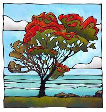 pohutukawa tree art -