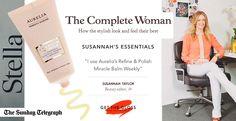 'I use Aurelia's Refine & Polish Miracle Balm weekly' - Susannah Taylor, Beauty Editor