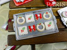 Christmas Cookies on Baking Sheet  C  12th by ParisMiniatures, $30.00