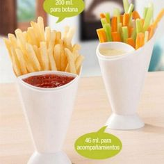 French Fry Cone Dipping Cup 2 in 1 French Fries Holder Cup with Ketchup Chip Cone Kitchen Potato Tool Tableware Set Vegetable Crisps, Cheese Straws, Smart Kitchen, Kitchen Storage, Cheap Meals, French Fries, Baby Food Recipes, Finger Foods, Chips