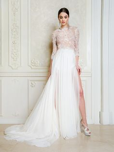 Ada is a dreamy and luxurious dress. It is created from the finest soft italian museline silk in multiple layers and a double silk. Luxury Wedding Dress, Wedding Gowns, Midsummer Dream, Bride Gowns, Valentino Rockstud, Bridal Collection, A Line Skirts, Beautiful Dresses, Marie