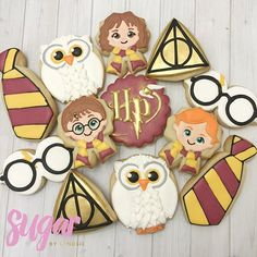 Thank you for your ribbon cutter idea for… : Harry Potter cookies! Thank you for your ribbon cutter idea for… Baby Harry Potter, Harry Potter Fiesta, Harry Potter Thema, Harry Potter Nails, Harry Potter Baby Shower, Harry Potter Cake, Harry Potter Cookie Cutter, Harry Potter Desserts, Gateau Harry Potter