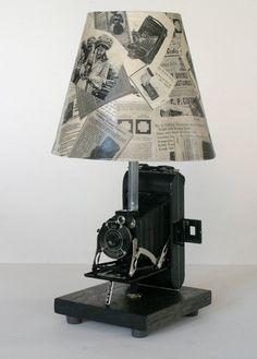 Vintage Kodak Junior Six-20 Series II Camera Lamp