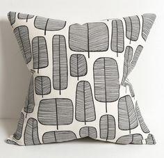 MissPrint Little Trees Monochrome cushion.