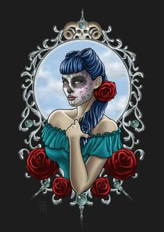 Sugar skull by TashOToole Sugar Skull Costume, Sugar Skull Halloween, Sugar Skull Makeup, Cool Halloween Makeup, Sugar Skull Art, Sugar Skulls, Halloween Costumes, Skull Couple Tattoo, Skull Girl Tattoo