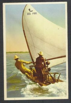 Postal Antigo Jangada Em Alto Mar. Embarcações - R$ 15,00 no MercadoLivre