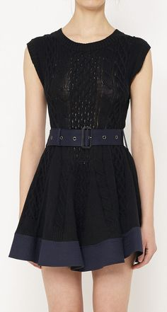 Sacai Black And Navy Dress... I'd like this better if it was longer... Or shorter, like what Vera Ellen wore on stage in White Christmas.