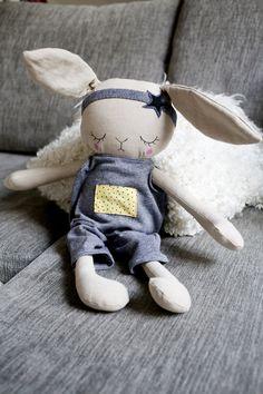 Handmade Bunny Cloth Doll by Peanut And Elliott