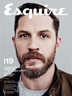 Tom Hardy on the cover of Esquire