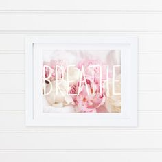 Soft pink and white peonies nested amongst the folds of crisp white linen...with semi transparent watercolour lettering layered over the photograph. An 8x10 inch digital print on A4 (8.3 x 11.7 inches) Hahnemuhle* Photo Cotton Rag, 300GSM. Printed in Bendigo, Victoria. Packaged in cellophane pocket with cardboard backing for extra protection against bending...sealed in a postpak before setting off on its journey to you! *** Important Stuff *** - Turnaround time is listed at 1-2 weeks bec...